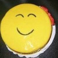 Happy Face Cake I made this cake for a birthday. Taste of chocolate and cover with fondant