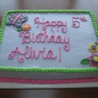 Liv's Purple, Butterfly, Flower Cake Made to meet ALL of the requests of the birthday girl! BC with Fondant accents - TFL!