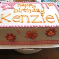 Kenzie's Cake Made this for a little girl who loves pink and orange - all BC. TFL!
