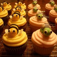 Bumble Bee & Turtle Cupcakes