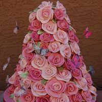Rose Tower Cake