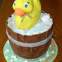 Rubber Ducky Baby shower cake. Thanks to MarkBolin and CakesUnleashed for inspiration and advice!