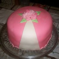 Pink Flower Cake I made this cake at my grandmothers house every thing should have gone ok but i didnt think about the humidty were she lives (near the...
