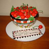 Life Is Just A Bowl Of Cherries Hi-I made this cake for my Great Aunt.( today is her 74th birthday!) she absolutely loves mary englebreit and cherrys, and she liked it so...
