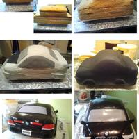 745 Bmw Cake This is how i did my 745 BMW Cake. Not all steps are included in the picture, but you can get the idea. To create the shine. I just painted...