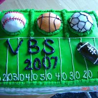 Sport Cake Made my own fondant...thanks to whomever came up with it on this site!