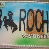 Wyoming License Plate Wyoming License Plate for a groom from WY. Personalized with his name. and the date of the wedding