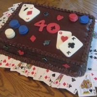 Poker Cake I saw the cards at the bottom on here, I forget who did it, but thanks for the idea, I love it.
