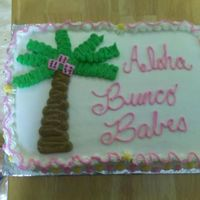 Hawiian Bunco We had a hawiian theme for Bunco and this is what i came up with. All buttercream. I took my inspiration from cakery. Thank you