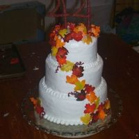 44Th Anniversary Cake We made this cake for practice and for an anniversary gift for my parents. It was our first time making a 3 tiered cake with dowels. We...