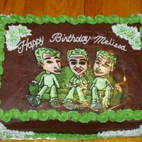 Green Day This entire cake was made out of buttercream! Gott'a love forzen butter cream tranfers!