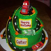 Race Car Cake   Inspiration from various cakes here on Cakecentral.