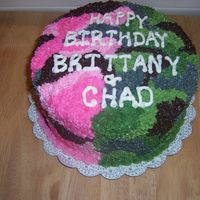 Pink And Green Camo Cake