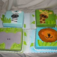 Baby Animals I got this idea from several people on CC, so thanks to you folks. They are all 8 inch. Fondant accents. TFL