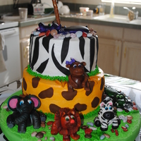 Safari Theme Cake