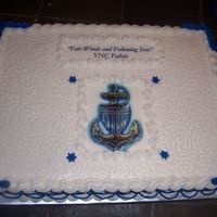 Uscg Promotion White cake with BC icing and edible image.