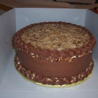 German Chocolate German Chocolate cake. Yea! Finally got coconut pecan frosting to work.