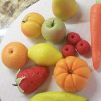 Marzipan Fruits And Veggies Learned these in class with Toba Garrett (gee am I bragging, lol..) the class was great, I suggest it to anyone. The marzipan is made from...
