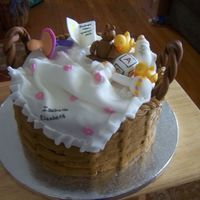 Baby Shower Gift Basket Well, I don't remember if I found a pic of this cake on here or the web, but I saved it and couldn't wait to make it. I think it...