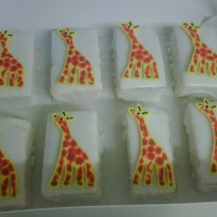 Baby Shower Mini Cakes I made 24 of these FBTC Giraffe's for mini cakes for a Jungle Themed Baby Shower.