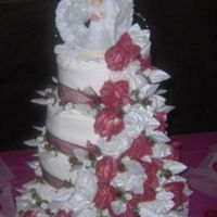Wedding August 12Th 2006 My best friends wedding cake I made as her gift