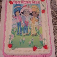 Strawberry_Shortcake.jpg Strawberry Shortcake altered to include the face of this cute little girl! The strawberries are made of fondant.