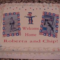 Welcome Home A cake made to welcome home two brave soldiers from Iraq..edible image, of course!!