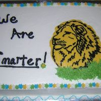 "Daniel - From The Bible  This cake was for a women's Bible study group. They were studying Daniel. The ""We Are Smarter"" thing was something said by..."