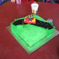 Harry's 3Rd Birthday Cake photos of Harrys Wiggles big red car 3rd birthday cake, grass at roadside kerb is piped with Wilton 233 tip, road is black sugar, musical...