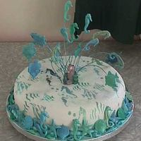 Seahorse Cake A cake done for the mother of a friend who was turning 60. She was mad on seahorses