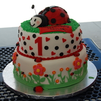 Ladybug Birthday Made for a first birthday. Sweet baby girl. Inspired by all ladybug cakes here on CC. Took a little of a few cake ideas. Thanks to all