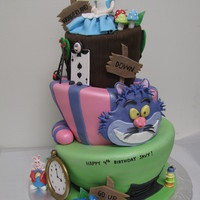 Alice In Wonderland This cake was created for a 4 year old cute boy!