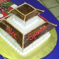 Asian Pagoda This was for my sons Tae kwon do black belt ceremony. It was a last minute thing please don't be cruel