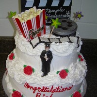 Graduation Cake I made this cake for a person who graduated and majored in film.