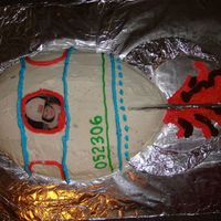"Rocket Birthday Cake My first attempt at cake decorating! Still decorating 45 min after guests arrived! This was the one for my 1 yr old son to ""eat&quot..."