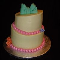 Class 4 Final Cake First topsy turvy, practice cake so I didnt do much with decoration.