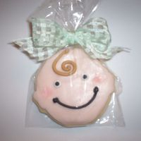 Baby Shower Cookies rolled buttercream on sugar cookie