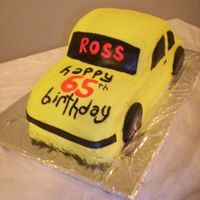 Car Cake Lemon cake, lemon buttercream, MMF accents.