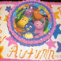 Cimg1703.jpg Backyardigans themed birthday party. Backyardigans edible image and buttercream icing