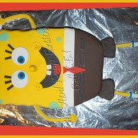 Here's Spongebob! Done for a clients son 6th birthday. He loved it and so did many of the people in the restaurant. I even picked up a new customer! Fun cake...