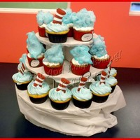 Dr. Seuss & Thing1 & Thing2 Dr. Seuss & Thing1 & Thing2 cupcakes to go with the Dr. Seuss/Horton cake for a 1st Birthday Party. I had to go out and get one of...