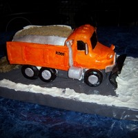 Snow Plow Truck Here in KS we have had a very tough winter. My husband is a diesel mechanic for the state and I made this cake for him to take to work to...