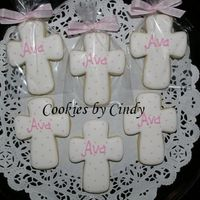 Baby Girl Christening NFSC w/ Antonia RI. Some simple cookies for little Ava's Christening.