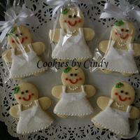 Gingerbread Brides NFSC w/ Antonia RI. My sister hosted a Christmas themed Bridal Shower, so I thought these cookies would be fun!