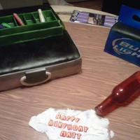 Tackle Box And Beer Box Birthday This was a cake that was inspired by cakesbybert. It is a tackle box with the inside tray, complete with edible NormBait fishing lures. The...