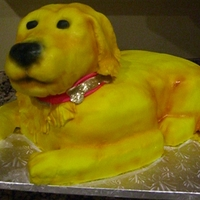 Golden Retriever This cake was made for our awesome groomer! It was her mother's birthday. It's white cake with almond buttercream icing. The head...