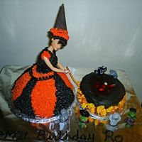 Witch Cake done for my sis' bday, this is my first doll cake