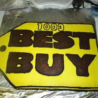 Best Buy Cake my hubby works at best buy and they asked him if i would make a cake for some store party tomorrow, they asked yesterday...so kinda short...