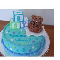 Showerma2.jpg My first Shower Cake. Choc. cake with choc. mousse filling.