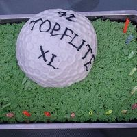Husband's Birthday Cake I couldn't decide what to do, so decided golf is always a good standby!